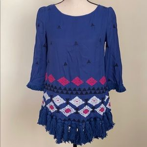 Anthropologie Floreat Embroidered 3/4 Sleeve Top 4